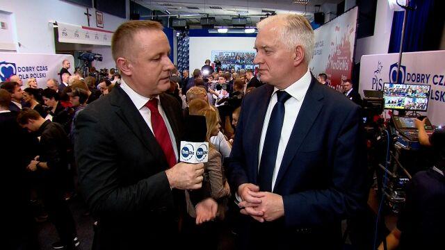 Jarosław Gowin: to zwycięstwo za wrażenie, exit poll jest wrażeniem, a nie werdyktem