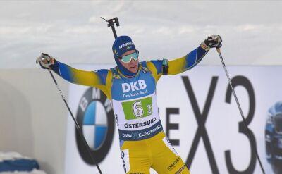 Szwedzki duet wygrał biathlonowego supermiksta w Osteresund, Polacy daleko
