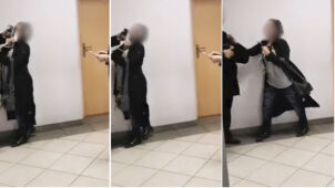 Ksiądz uderzył kobietę na sądowym korytarzu