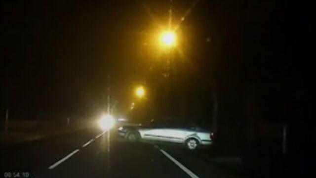 Policjant podróżował z żoną, zatrzymał pijanego kierowcę.