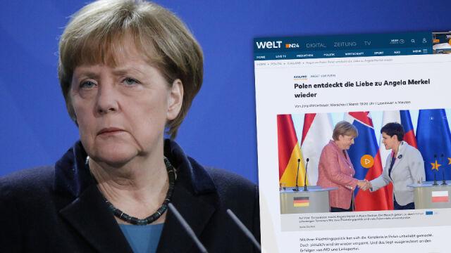 """Die Welt"": Polska na nowo pokochała Merkel"
