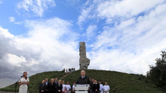 Kaczyński na Westerplatte o zmarłym bracie