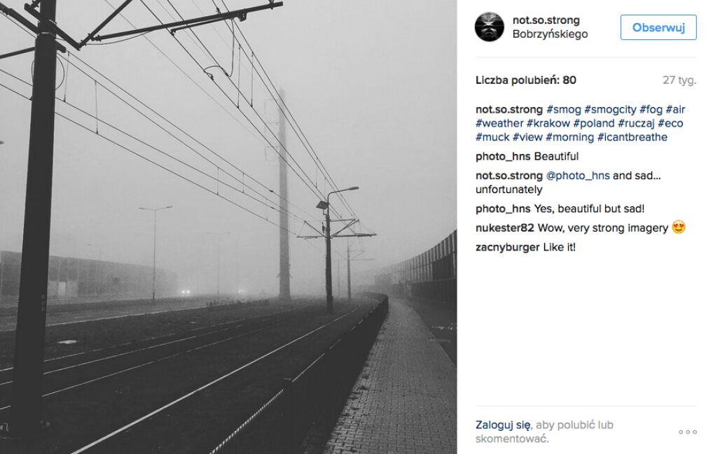Na smog w Krakowie narzekają również mieszkańcy.