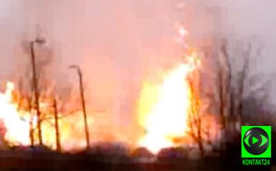 """""""Wielki szum palącego się gazu. Płacz i strach"""". Nagranie internauty z pożaru w Wielkopolsce"""