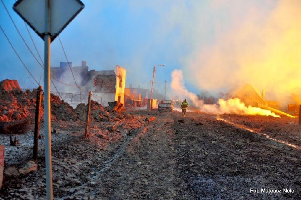 Po wybuchu gazu w płomieniach stanęło wszystko co znajdowało się w pobliżu