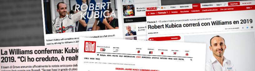 Zagraniczne media o Kubicy.