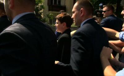 Premier Beata Szydło opuściła siedzibę Prawa i Sprawiedliwości
