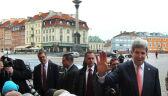 John Kerry na spacerze po Krakowskim Przedmieściu