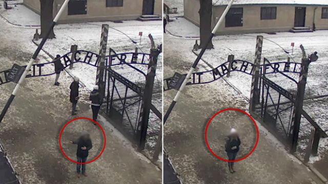 """Pół roku w zawieszeniu i grzywna za """"hajlowanie"""" pod bramą Auschwitz"""