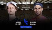 Skrót meczu Nadal - Sinner w ćwierćfinale Roland Garros