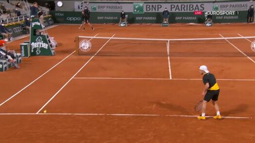Akcja meczu! Fantastyczne zagranie Thiema w ćwierćfinale Roland Garros