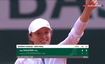 Iga Świątek awansowała do finału Roland Garros
