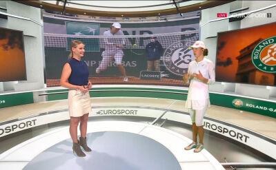 Iga Świątek w studiu Eurosport Cube po awansie do finału Roland Garros