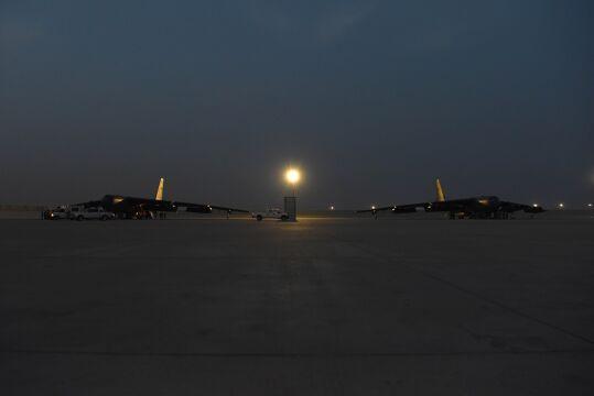 B-52H Stratofortress na lotnisku w Katarze