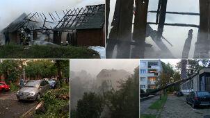 Skutki gwałtownej pogody. Setki interwencji, zniszczone dachy i połamane drzewa