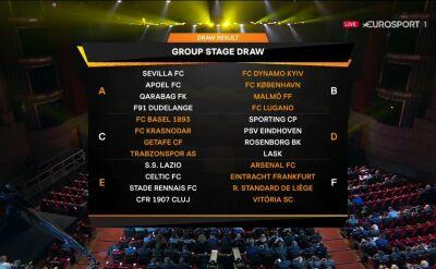 Rozlosowano fazę grupową Ligi Europy