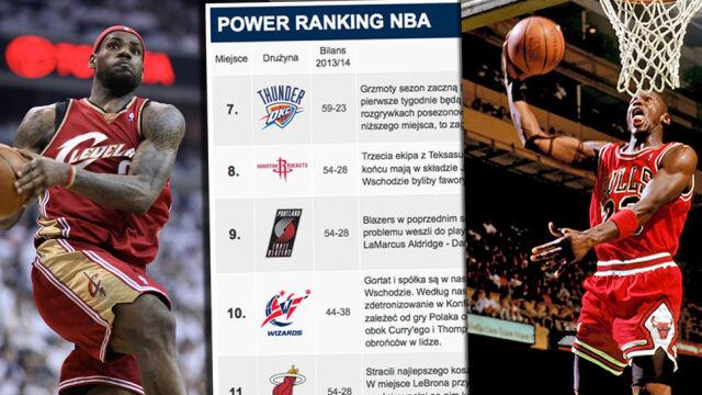 """""""Król"""" zdetronizuje Spurs, Byki zapomną o Jordanie? NBA Power Ranking sport.tvn24.pl"""