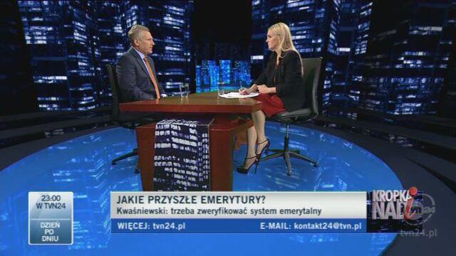 Zdaniem Kwaśniewskiego konsultacje ws. reformy powinny trwać dłużej (TVN24)