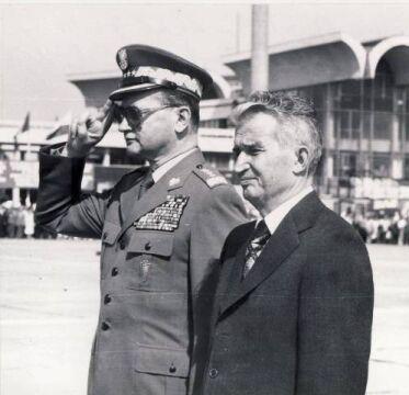 Wojciech Jaruzelski i Nicolae Ceauşescu