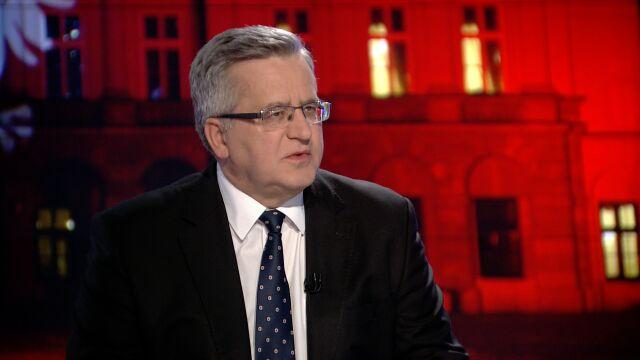 """Bronisław Komorowski był gościem """"Faktów po Faktach"""" w TVN24"""