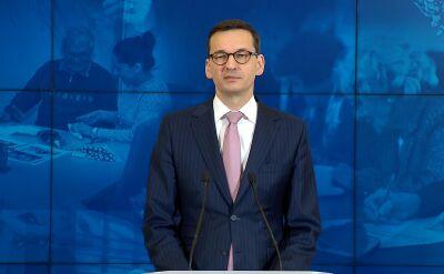 Morawiecki: chciałem bardzo podziękować dziennikarzom