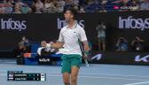 Djoković wygrał 2. seta w starciu z Karacewem w półfinale Australian Open