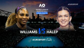 Skrót meczu Williams - Halep w ćwierćfinale Australian Open