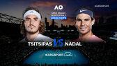 Skrót meczu Tsitsipas - Nadal w ćwierćfinale Australian Open