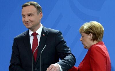 Angela Merkel spotkała się w Berlinie z Andrzejem Dudą