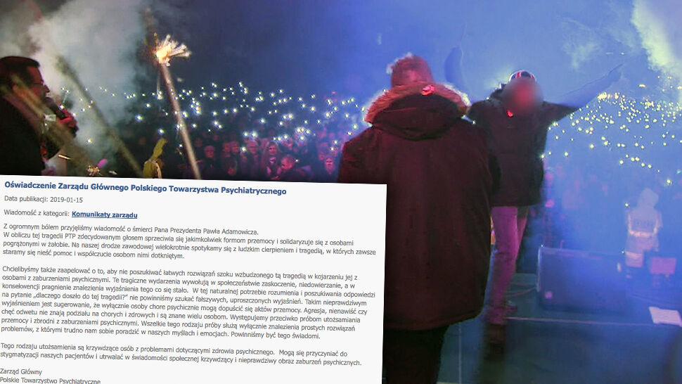 Polskie Towarzystwo Psychiatryczne wydało oświadczenie w sprawie zabójstwa Adamowicza