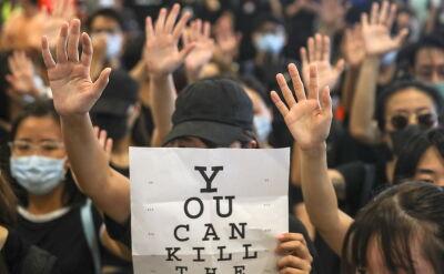 Mieszkańcy Hongkongu protestują po postrzeleniu demonstranta