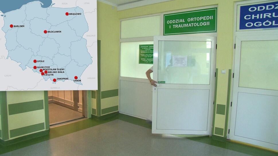 W szpitalach brakuje lekarzy. Przybywa czerwonych punktów na mapie