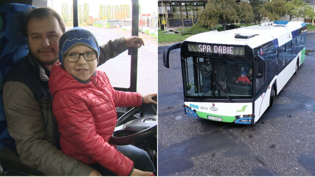 10-letni Filip został kierowcą autobusu. Na co dzień zmaga się z ciężką chorobą