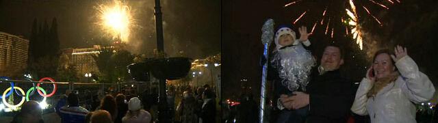 Fajerwerki, szampan i przemówienie Putina. Soczi nie boi się zamachów