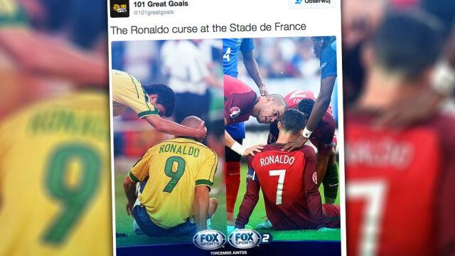 Stade de France pechowe dla Ronaldo