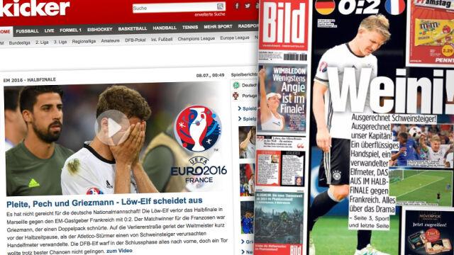 Niemiecka prasa po meczu z Francją