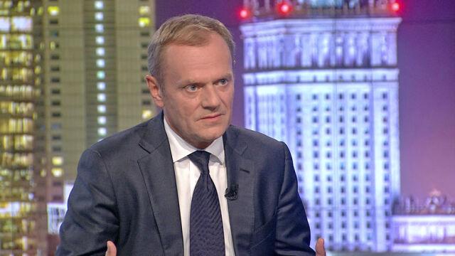 """Donald Tusk był gościem """"Faktów po Faktach"""""""