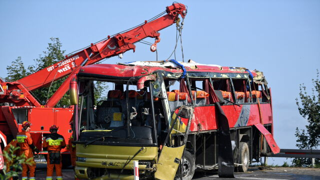 37 osób po wypadku autokaru wciąż w szpitalu