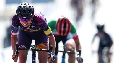 Katarzyna Niewiadoma w czołówce wyścigu dookoła Hiszpanii