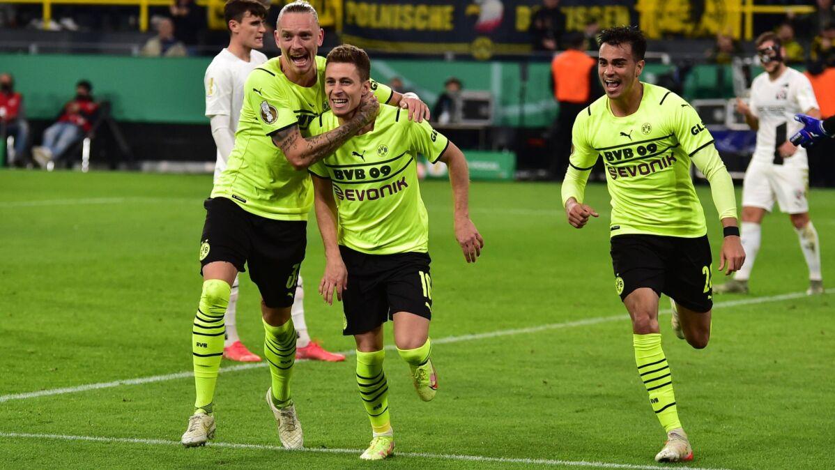Hazard zastąpił Haalanda. Borussia  Dortmund z awansem w Pucharze Niemiec