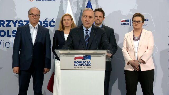 Grzegorz Schetyna przekonywał, że wybory do Parlamentu Europejskiego będą decydować o przyszłości Polski