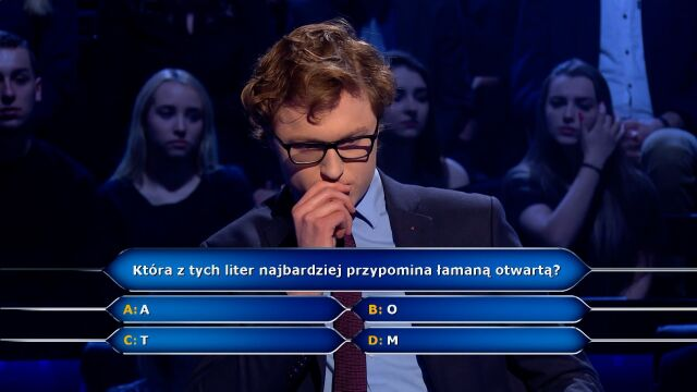 Which of the letters most resembles a broken open? Question for 500 zlotys