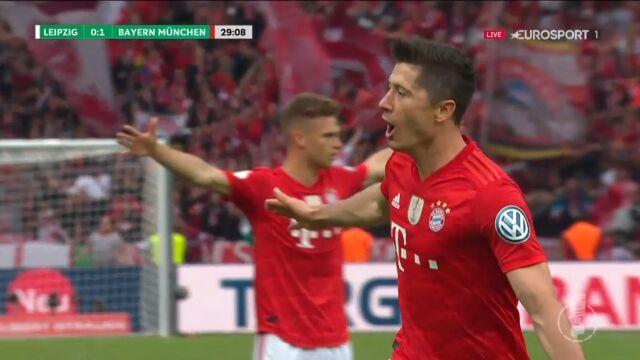 Finał Pucharu Niemiec: Lewandowski dał Bayernowi prowadzenie