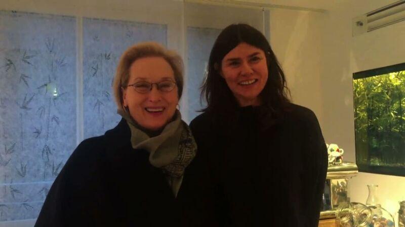 Meryl Streep i Małgorzata Szumowska śpiewają życzenia urodzinowe dla Andrzeja Wajdy