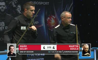 Setka na zakończenie 1. sesji. Remis w starciu Selby'ego z Gouldem w finale European Masters