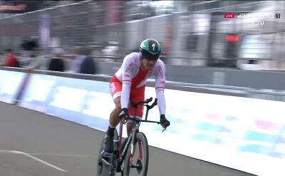 Występ Bodnara w jeździe indywidualnej na czas w mistrzostwach świata