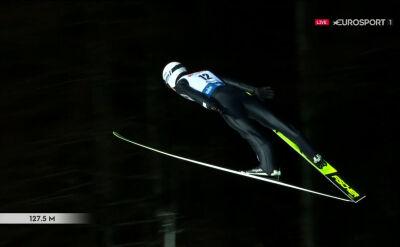 Skok Klemensa Murańki z 1. serii konkursu w Wiśle