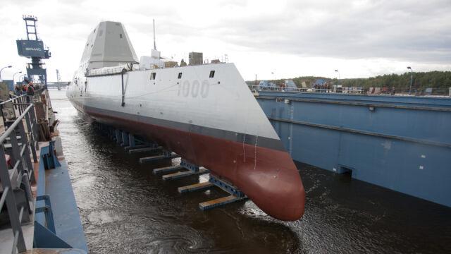 Wodowanie USS Zumwalt