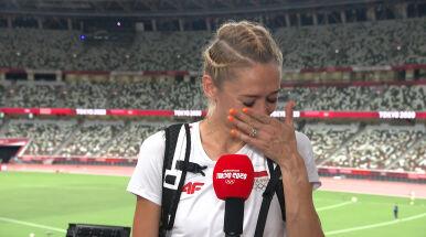 Kamila Lićwinko we łzach.
