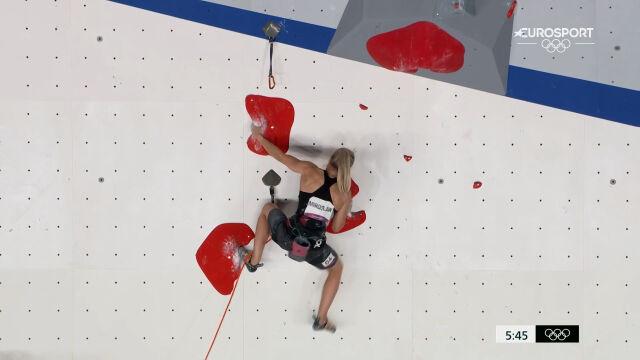 Tokio. Występ Mirosław w kwalifikacjach prowadzenie we wspinaczce sportowej